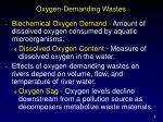 oxygen demanding wastes8
