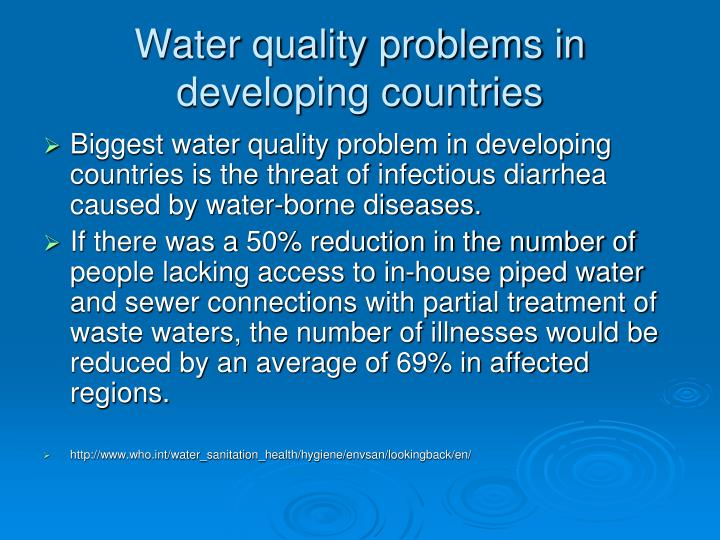 Water quality problems in developing countries3