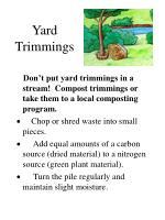 yard trimmings