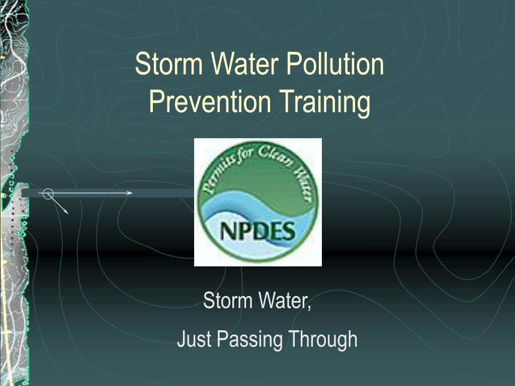 storm water pollution prevention training l.