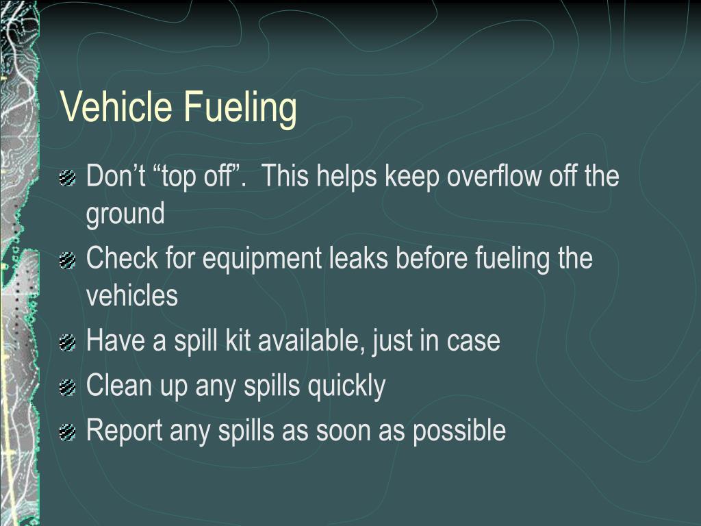Vehicle Fueling