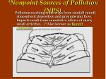 nonpoint sources of pollution nps