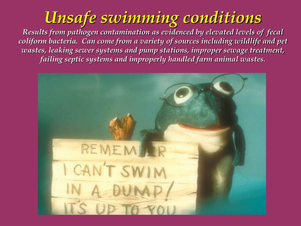 Unsafe swimming conditions