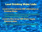 local drinking water links