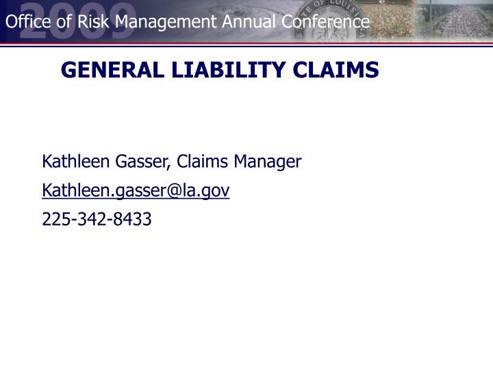 General liability claims