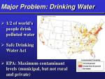 major problem drinking water