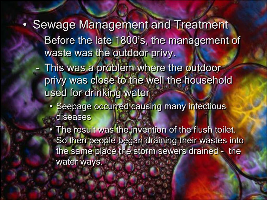 Sewage Management and Treatment