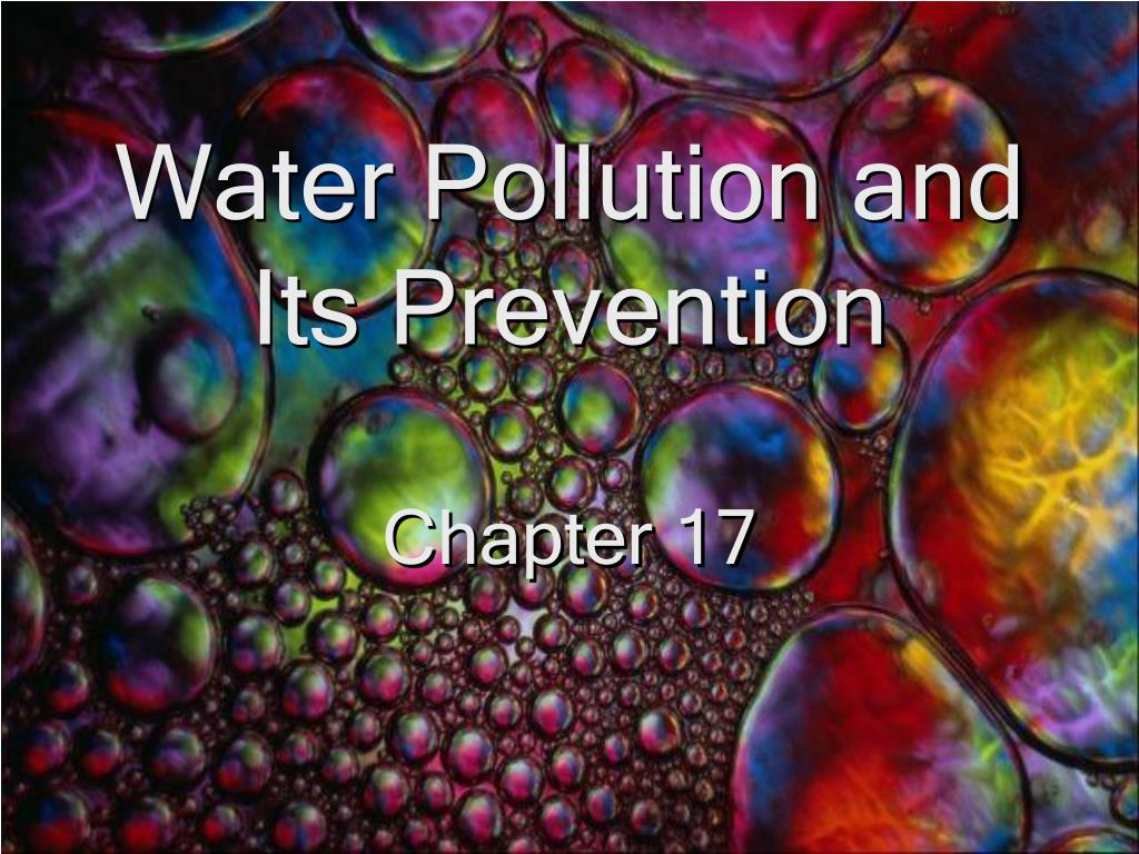 water pollution and its prevention l.