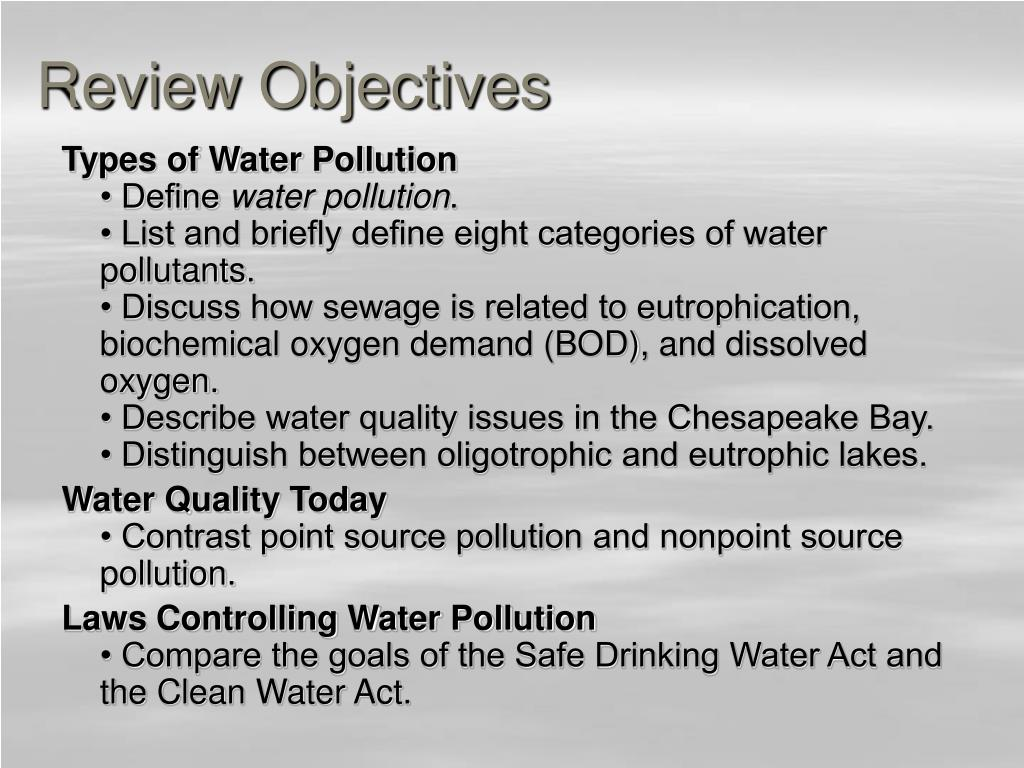 Review Objectives