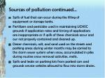 sources of pollution continued
