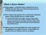 what is storm water