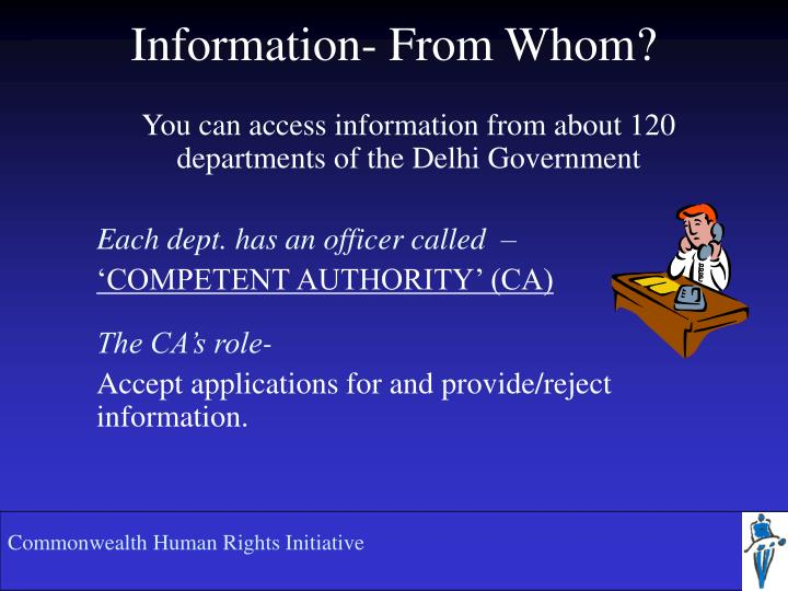 Information- From Whom?