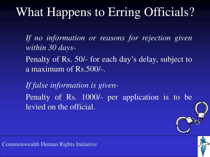 What Happens to Erring Officials?