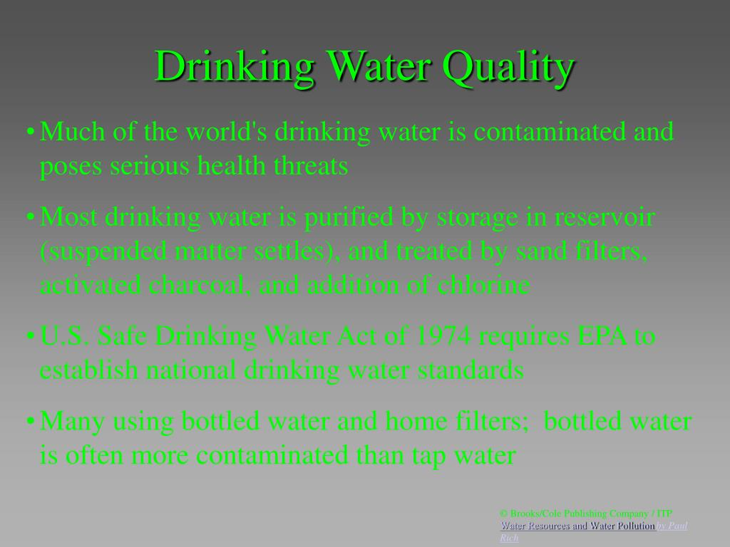 Drinking Water Quality