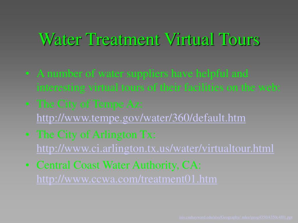 Water Treatment Virtual Tours