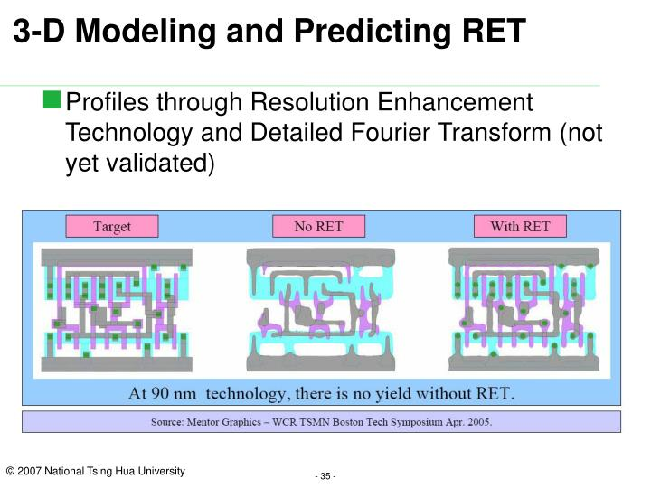 3-D Modeling and Predicting RET