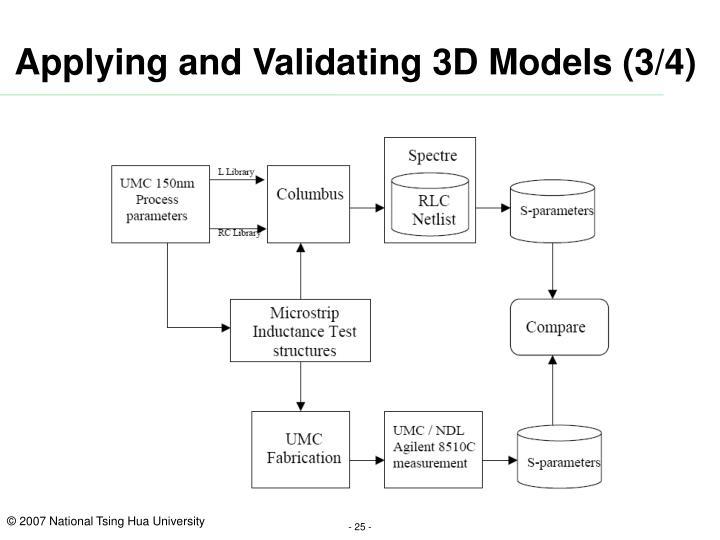 Applying and Validating 3D Models (3/4)