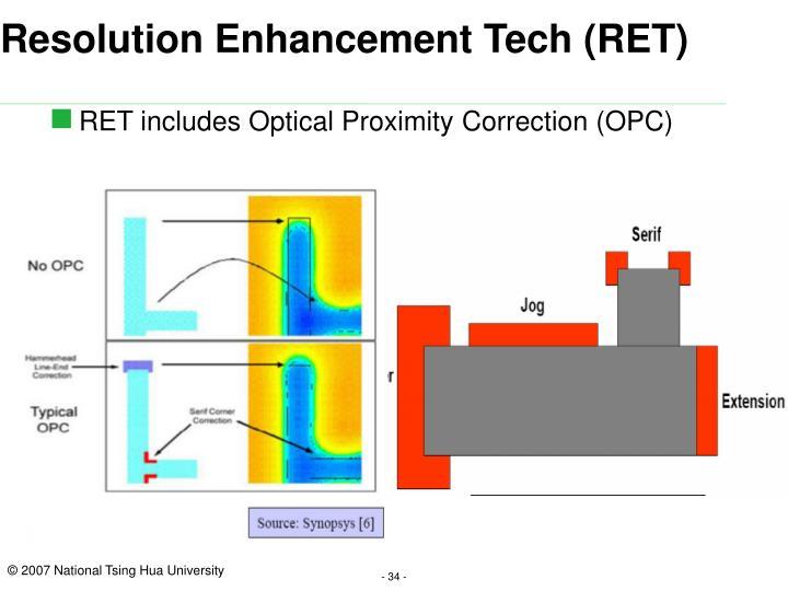Resolution Enhancement Tech (RET)