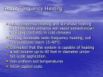 radio frequency heating