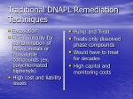 traditional dnapl remediation techniques