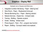 graphics display wall