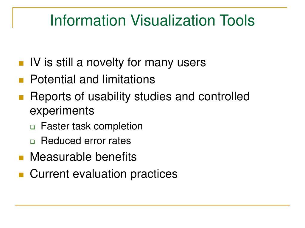 Information Visualization Tools