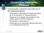 conservation easements purposes