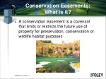 conservation easements what is it