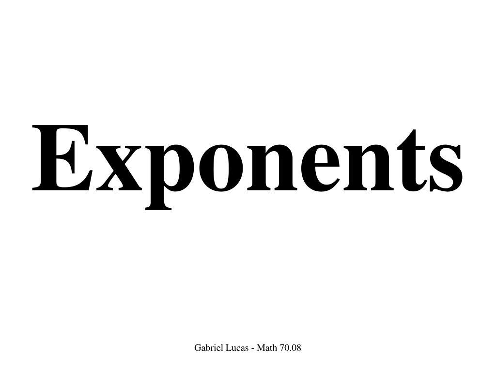 exponents l.