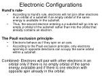electronic configurations17