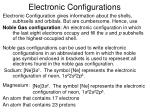 electronic configurations21