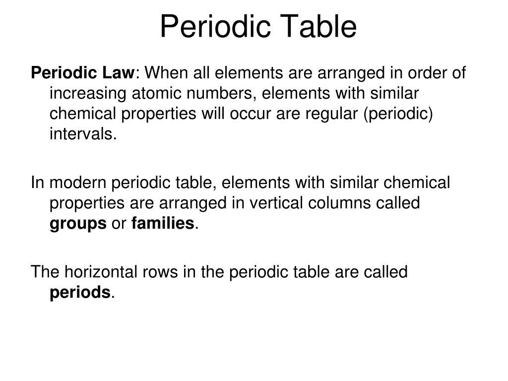 periodic table l