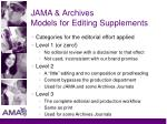 jama archives models for editing supplements