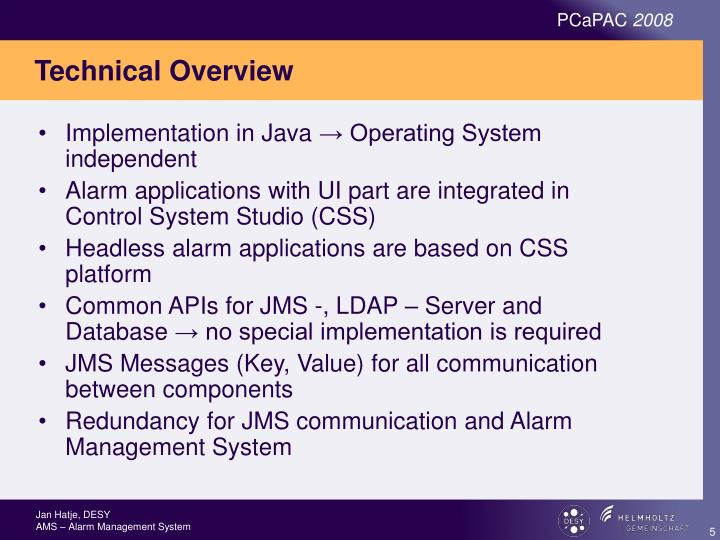 PPT - AMS – Alarm Management System and CSS – Control System Studio ...