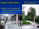 aquifer subsidence
