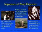 importance of water properties