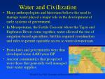 water and civilization