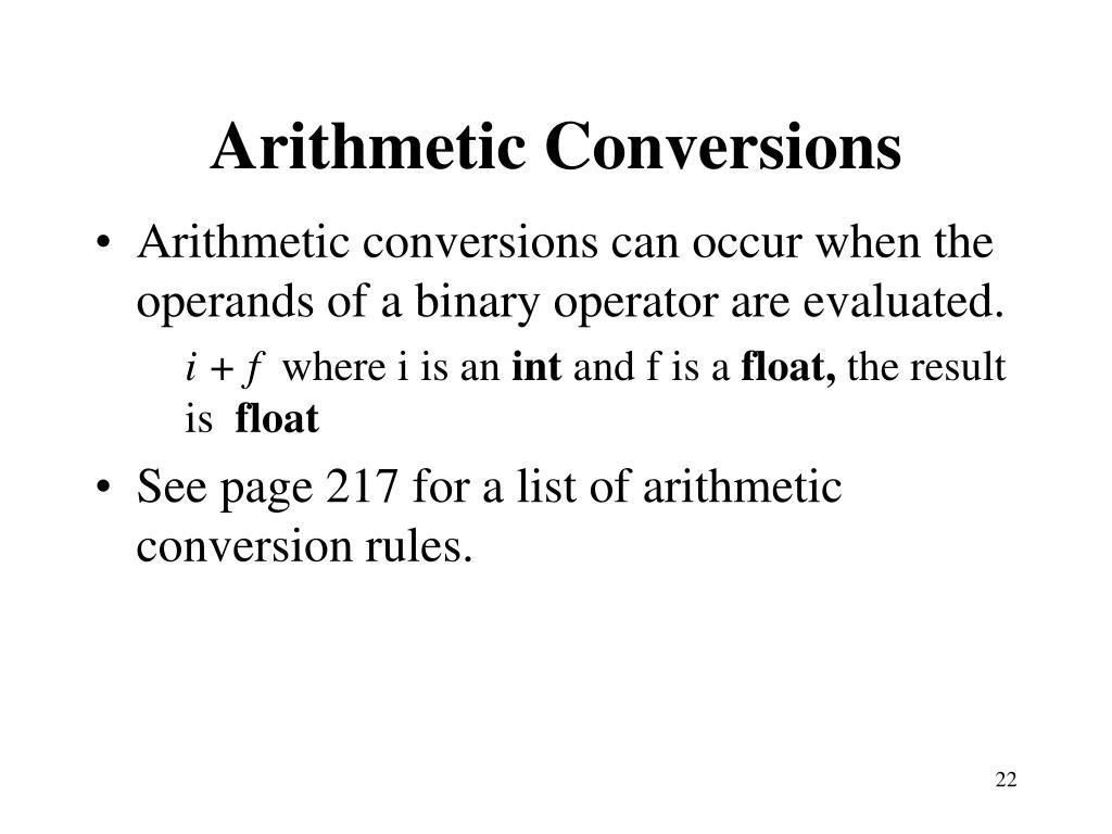 Arithmetic Conversions