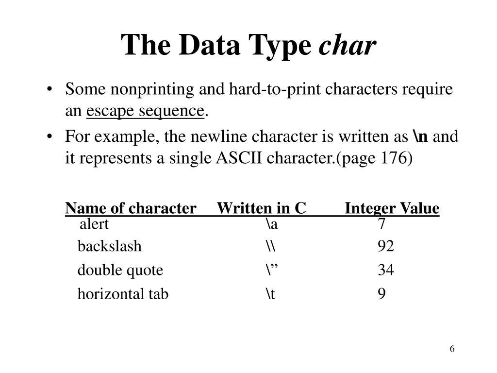 The Data Type
