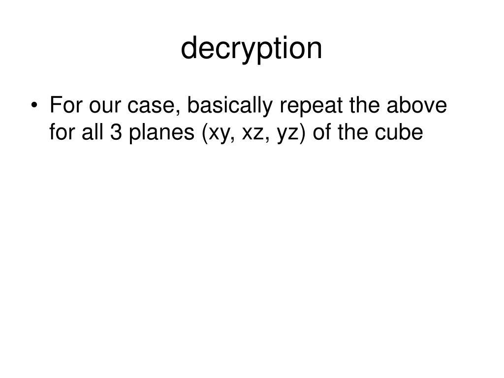 decryption
