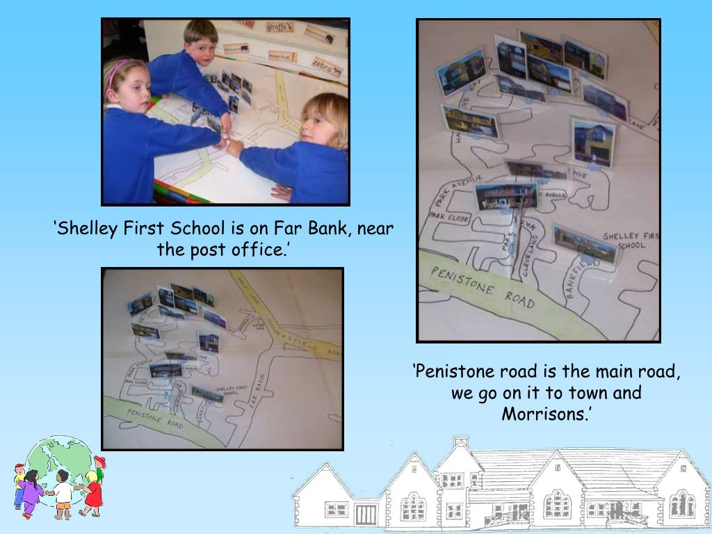 'Shelley First School is on Far Bank, near the post office.'