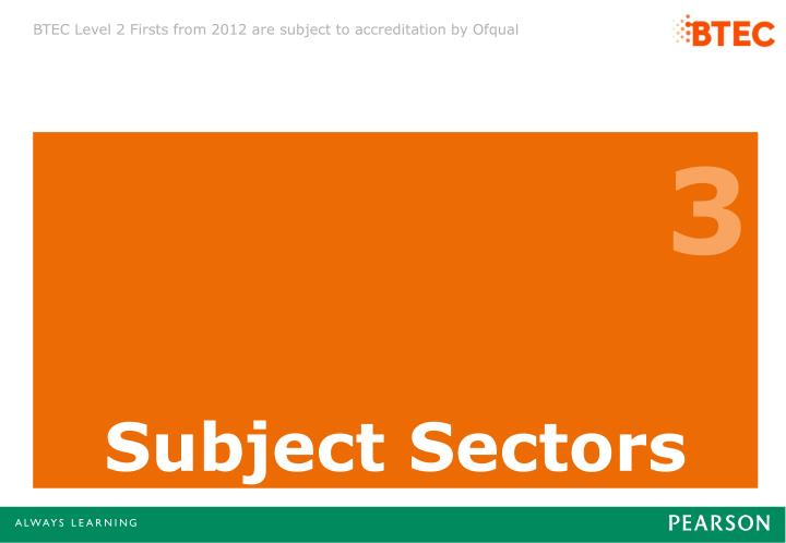 Subject Sectors