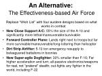 an alternative the effectiveness based air force