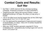 combat costs and results gulf war