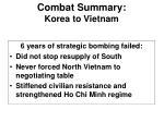 combat summary korea to vietnam