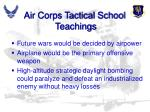 air corps tactical school teachings