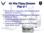 air war plans division plan 1