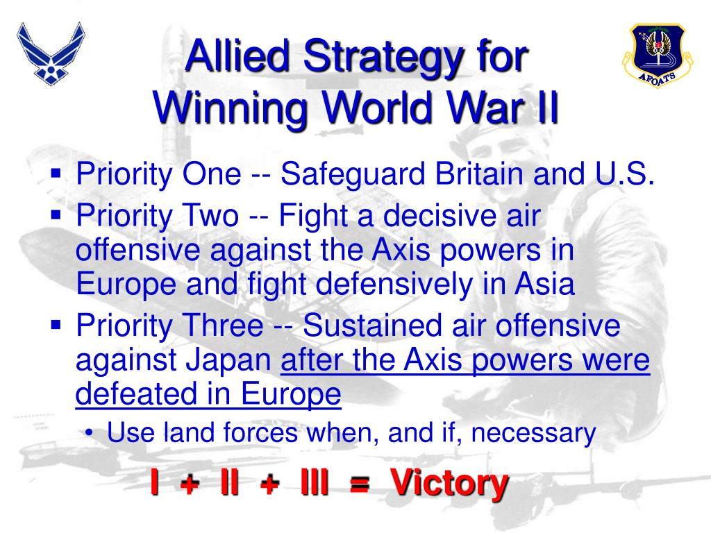 Allied Strategy for