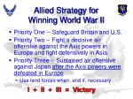 allied strategy for winning world war ii