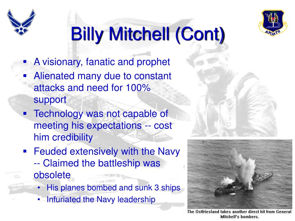 Billy Mitchell (Cont)